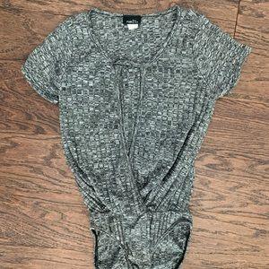 Rue 21 grey body suit